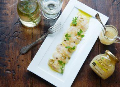 YL002_白身魚のカルパッチヨ レモンレリッシュソース