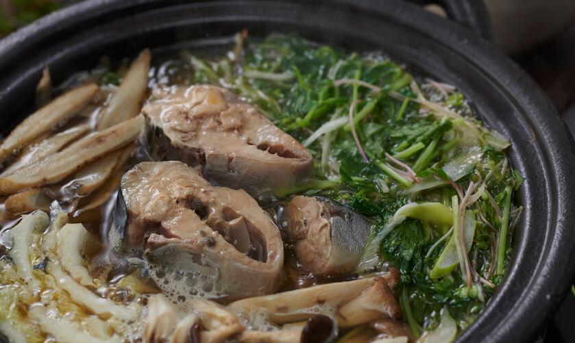 さば水煮缶の香味野菜鍋